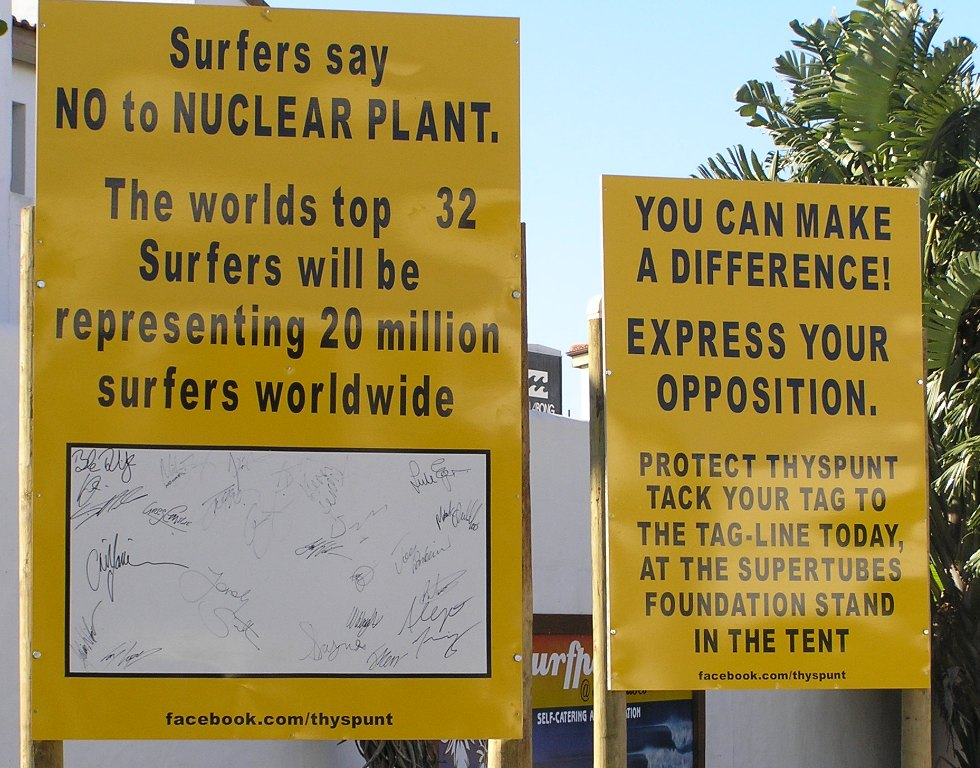 Protest At J Bay Against Nuclear Power Station At Thyspunt